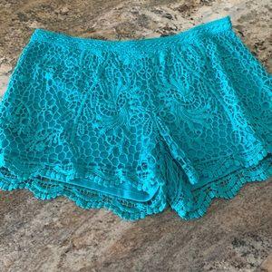 Mossimo lace shorts size Large